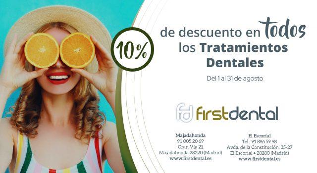 Descuento del 10% en todo los tratamientos dentales en nuestras clínicas de Majadahonda y El escorial